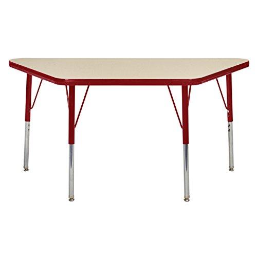 ECR4Kids elr-14826-mrd-ts Mesa t-mould 61x 121,9cm Trapez Aktivität Schule Tisch Kleinkinder, Beine W/Drehstuhl gleitet, höhenverstellbar 38,1cm 23