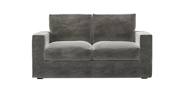 Stella Two Seat Sofa Bed In Squirrel Greyblack Sofas Amazonco