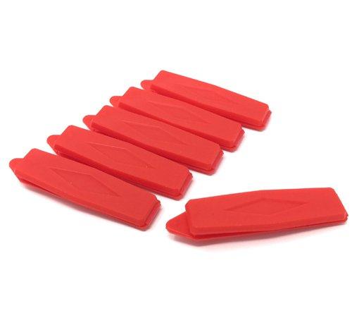Artikelbild: Hunde-Haarspange Raute 6 Stück rot 8