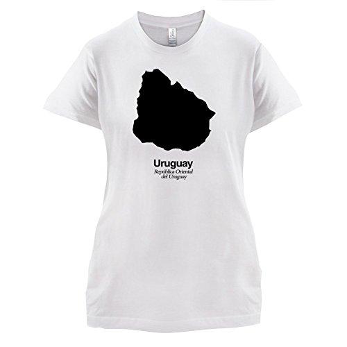 Uruguay / Republik Östlich des Uruguay Silhouette - Damen T-Shirt - 14 Farben Weiß