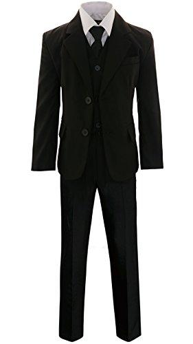 Gillsonz A2237 5-TLG.Kind er festlich Junge Kommunions Hochzeit Anzug Hemd Gr.86-152 (Weiß, 128/134)