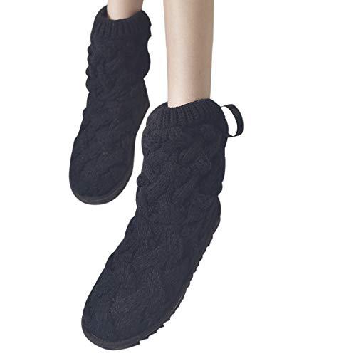 Bellelove〗 Herbst und Winter Kreative Frauen Schneeschuhe, Frauen Bogen hoch-Stricken Wolle Wolle Schuhe warme Stiefel