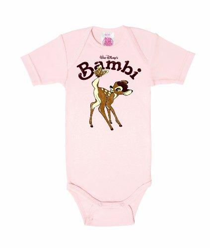 -Body Kurzarm Mädchen - Disney Baby Strampler - rosa - Lizenziertes Originaldesign, Größe 98/104, 2-4 Jahre (Bambi Kostüm Für Kinder)