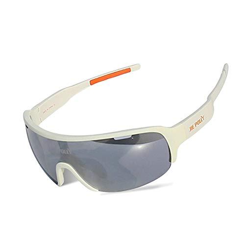Aeici Sportbrille PC Brillenträger Herren Motorradbrille Pilotenbrille Weiß