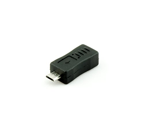Akord adattatore mini usb tipo b femmina a maschio tipo b micro pin convertitore–nero