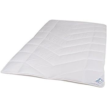 Traumnacht 5 Star 4 Jahreszeiten, Teilbare Bettdecke Aus Reinem  Baumwolle Satin, 200 X 200 Cm, Waschbar, Weiß