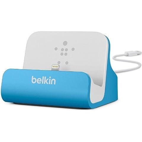 Belkin MiXIT - Base dock de carga y sincronización para Apple iPhone 5/5S/5C/6/6+/6S/6S+ y iPod Touch 5G, color azul