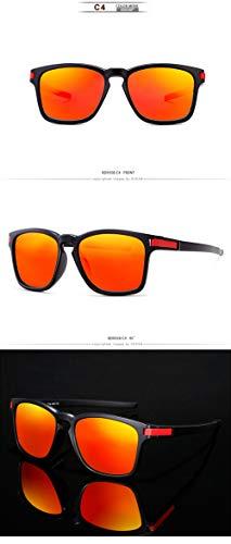 WWVAVA Sonnenbrillen Sommer New Style Square Polarisierte Sonnenbrille Männer Sport Style Fashion Sonnenbrille Ultraleicht Rahmen Durable, c2