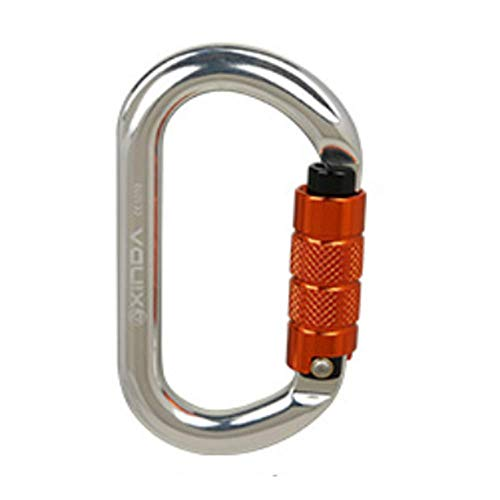 LLXYM O-Typ Automatische Sperre Outdoor-Klettern Hauptschloss Sicherheit Master Lock Karabiner Schnell Hängende Sperre Ausrüstung,7,11.2Cm*6.1Cm (Master Outdoor-sperren)