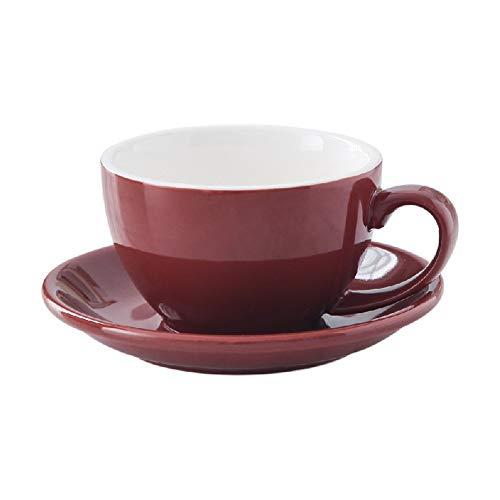 OPPP Tasse à café Céramique Latte Tasse À Café Épaissir Cappuccino Américain Grand Port Tasse À Café Et Soucoupe Set 300ml, U