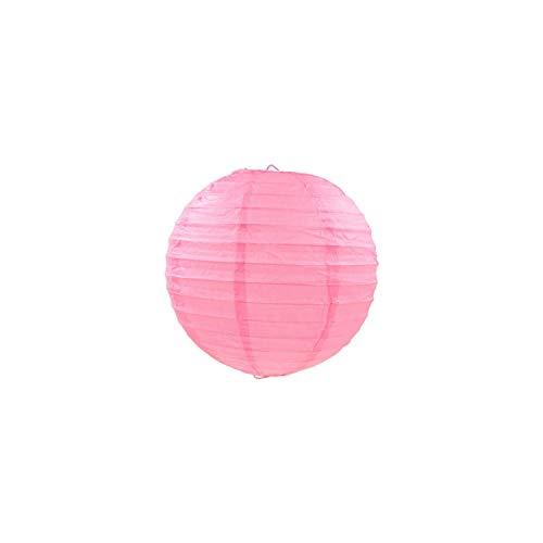 Papierlaterne 4/6/8/10/12/14/16 Zoll-runde Papierlaternen Geburtstag Hochzeitsdeko Geschenk-Fertigkeit Diy Lampion hängender Kugel Partybedarf, Rosa, 6Inch 15Cm -