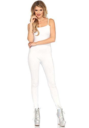 LEG AVENUE 3763 - Basic unitard, Größe M/L - Weiß Unitard Kostüm
