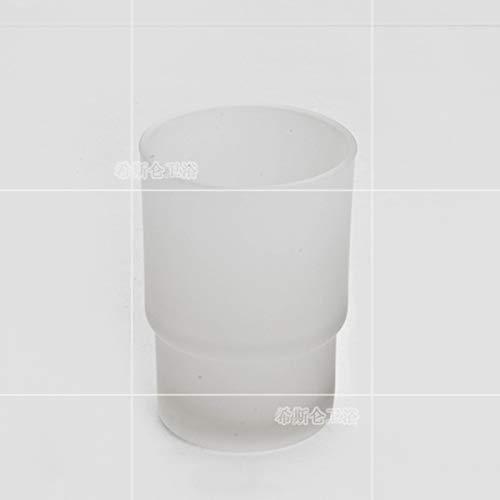 Amgend Europäische Art Ich Keramische Schalenpaarzahnbürstenschale Einzelne Schale Transparente Waschschale Milchglas Mundschale Universalmodell, Milchglas -