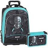 Schoolpack Mochila Trolley + Estuche 3 Cremalleras Completo de papelería Compatible...