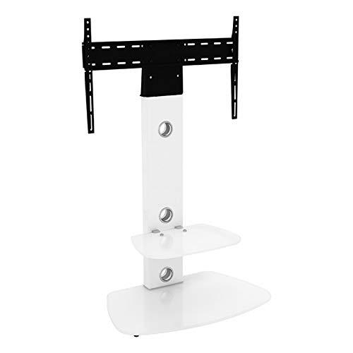 King aufrecht und Freitragende TV-Stand mit Halterung weiß abgerundete Böden 70cm von 81,3cm-152,4cm Zoll für HD Plasma LCD LED OLED gebogen TVS von TV Möbel Direct (Stand Tv Techlink)