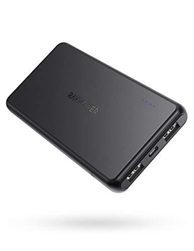 RAVPower Powerbank 10000mAh Dünn und Leicht, iSmart externer Akku für Handy iPhone XS Max/XR/X / 8/8 Plus / 7 / 6s / 6 Plus, iPad, Galaxy S8 S9, Huawei Smartphones, MP3 usw.