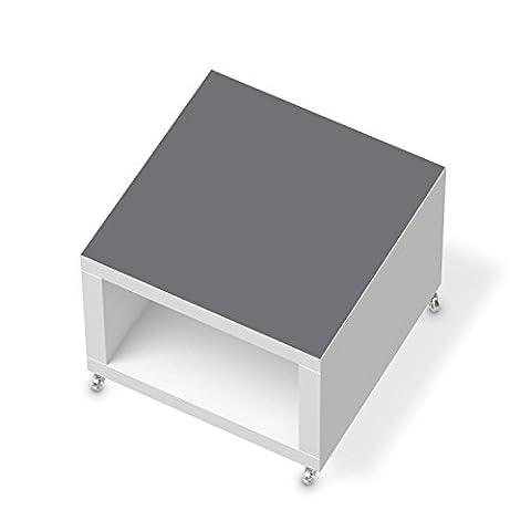Möbel-Folie für IKEA Lack Beistelltisch mit Rollen | Designfolie Deko Möbel-Folie Sticker | Wohnung verschönern Dekoideen | Farbe Grau 2