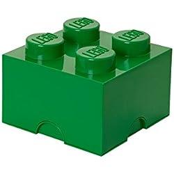 Lego 40031734 - Caja de almacenamiento para bloques de construcción color verde parchís