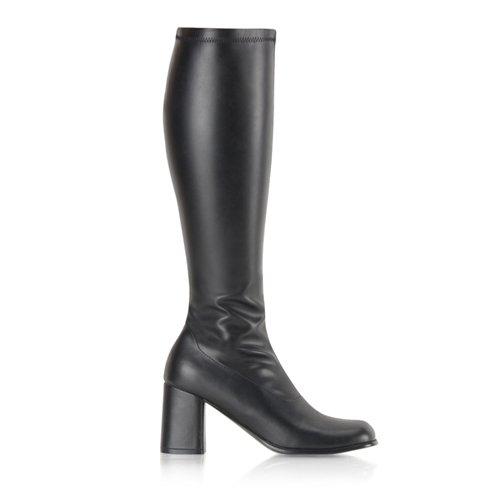 Higher-Heels, chaussures de verni pour homme mat noir