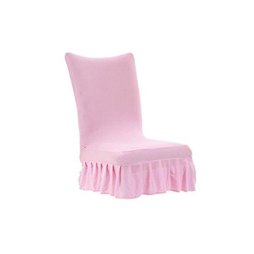 MagiDeal Einfarbige Stretch Stuhlhussen Stuhlüberzug Stuhl Schonbezug für Zuhause oder Fest - Hell-Pink