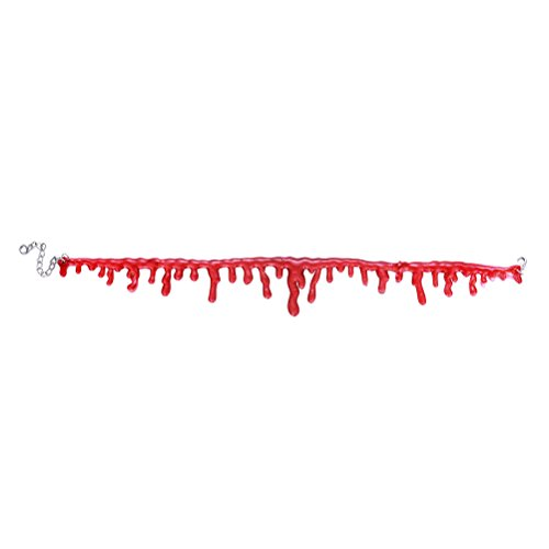 SUPVOX 2er Halloween Vampire Blood Choker Halskette Scary Halloween Dekorationen