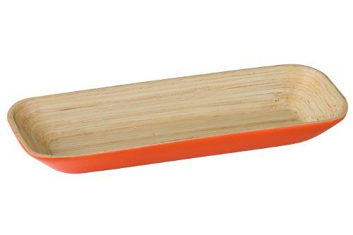Premier Housewares 1104424 Kyoto Plateau en Bambou Orange