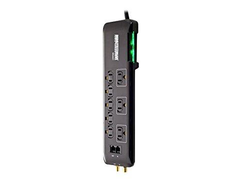 Minute Man mms686sct 8AC Outlet (S) 120V 1.8m schwarz Überspannungsschutz-Protektoren Überstrom-Schutz (1080J, 8Ausgang (S) AC, 15A, 1800W, 1,8m, Schwarz) -