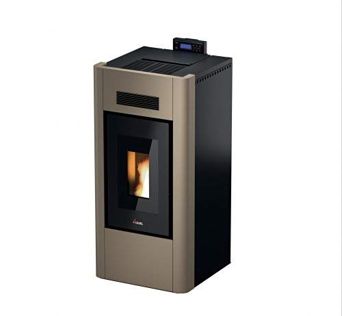 CADEL Idro Prince 23 kW H2O Pelletofen wasserführend Ofen Pellet Kamin Auswahl-Idro-H2O-23 Metall-Bronze