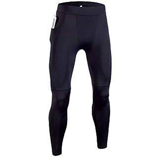 ACMEDE Herren Fitness Hose Compression Tights Kompressionshose mit Tasche Herren Sport Lang Funktionswäsche Pants