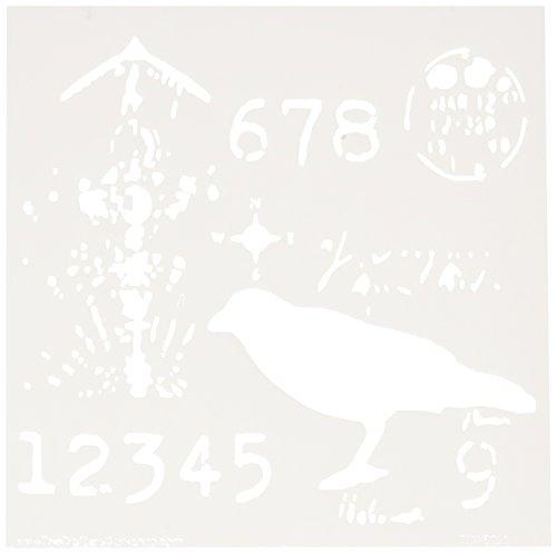 Crafters Workshop-Stencil, in plastica, 15 cm x 15 cm, Ravenscape