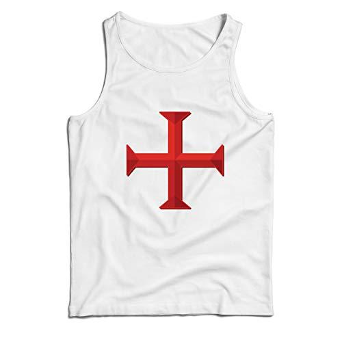 Kostüm Kreative Politische - lepni.me Weste Die Tempelritter Rotes Kreuz Arme Mitmenschen-Soldaten Christi (XX-Large Weiß Mehrfarben)