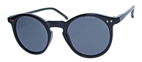 Retro Sonnenbrille im 50er 60er Jahre Vintage Stil Damen Herren Pantobrille runde Gläser V56 (56...