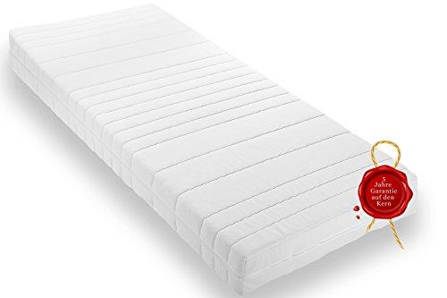 Wohnorama Qualitäts Matratze H3 Rollmatratze inkl. Klimafaser, Öko-Tex, umlaufender Reißverschluss, 5 Jahre Garantie* (90 x 200)
