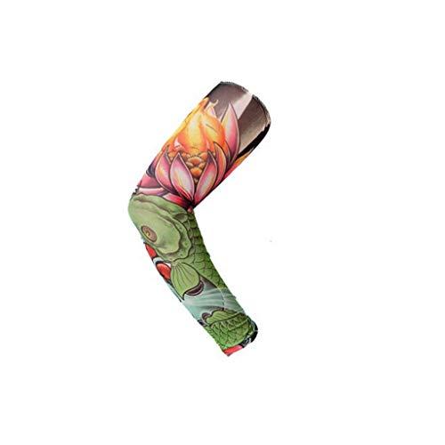 YMKFM Temporäre Gefälschte Slip On Tattoo Arm Sleeve Radfahren Basketball Sun Block Sleevelet Für Männer Und Frauen (Unisex Dark Set) (Color : D) Unisex Street-bikes