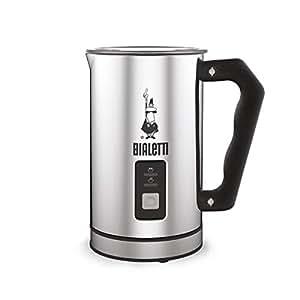 Bialetti 0004430 Montalatte Elettrico, capacità 240 ml, 500 W, 1 Cups, Acciaio Inossidabile, Argento/Nero
