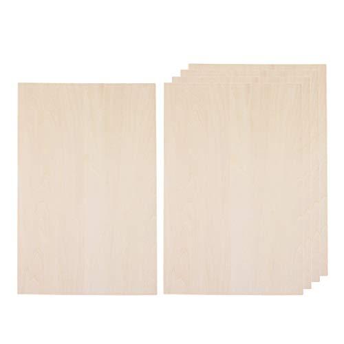 Unbekannt Sharplace 5X Basteln DIY Holz Platte Holzbrett Bastelbedarf Bastelholz Handwerk - 200x300x5mm