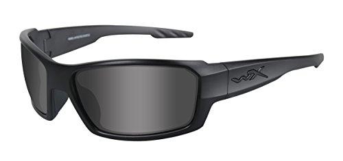 Wiley X Schutzbrille Rebel aus der Black Ops Kollektion, Matt Schwarz, M-L, ACREB01