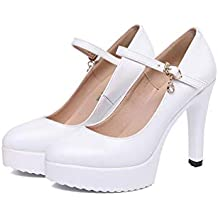 mogeek Zapatos con Tacon Alto para Mujer Plataforma Wedding Party Zapatos Novia