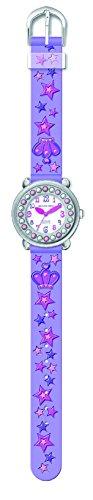 Jacques Farel Kinder Armbanduhr mit Swarovski® Elements - Prinzessin