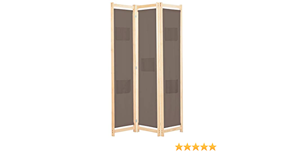 per interni vidaXL colore: nero 260 x 180 cm Divisorio pieghevole a 3 pannelli divisorio mobile divisorio per la privacy ufficio camera da letto