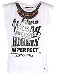 it Amazon donna t Abbigliamento bianca shirt IMPERFECT H6dSW6qw