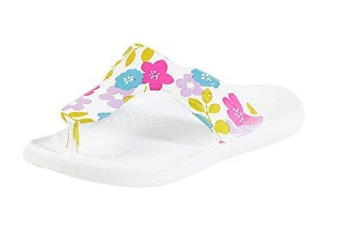 Pantoufles À La Mode Pour Femmes, Pantoufles, Sandales De Bain Avec Imprimé Floral Et Tongs Cl 296 Lilas / 1
