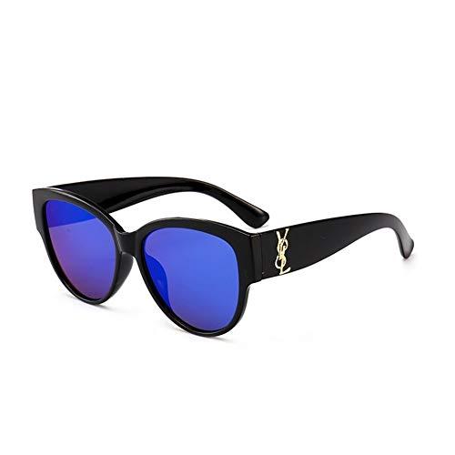 LAOBIAOZI Niedlich Sexy Damen Cat Eye Sonnenbrille Frauen Vintage Marke Sonnenbrille Weiblich (Lenses Color : Black Blue)
