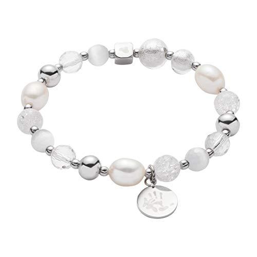 JEWELS BY LEONARDO Damen-Armband Hope VII Darlin\'s, Edelstahl mit unterschiedlichen Glas- und Kristallperlen, Länge 70 mm, 016506