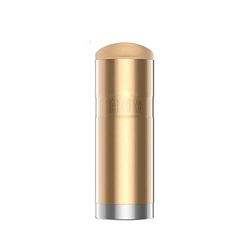 Bouilloire électrique, tasse de chauffage de voiture, tasse de voyage intelligente, capacité de 12V, 350ML, acier inoxydable de catégorie comestible ( Color : Gold )