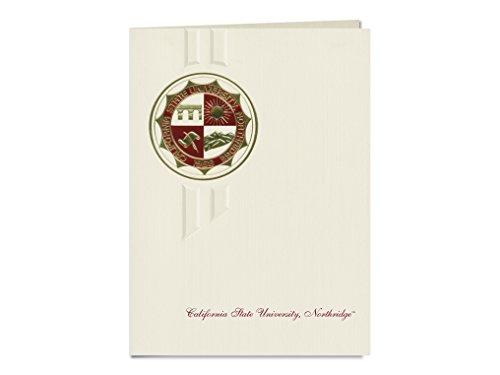 Signature Ankündigungen California State University–Creator Graduation Ankündigungen, eleganten Stil, Basic Pack 20mit California State u. Northridge Dichtung Folie