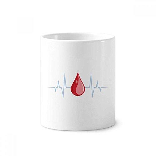 DIYthinker Elektrokardiogramm Blut, Design, Muster Keramik Zahnbürste Stifthalter Tasse Weiß Cup 350ml Geschenk 9.6cm x 8.2cm hoch Durchmesser