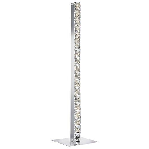 Moderne LED Stehleuchte in Chrom 27xLED 4,8 Watt 230V aus Metall & Glas Einfache Stehleuchte warmweißes Licht Schlafzimmer Wohnzimmer Esszimmer Lampe Leuchten Beleuchtung - Chrom Moderne Stehleuchte