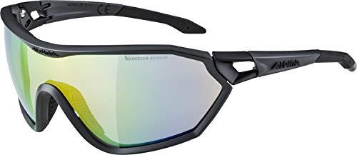 ALPINA Erwachsene S-Way VLM+ Sportbrille, Coal matt-Black, One Size