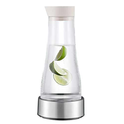 EPOS Glaskaraffe mit Kühlstation ca. 1 Liter - Deckelausgießer Silikon Farbe: Sand